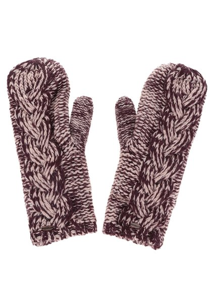 Vínové dámske žíhané pletené palčiaky O'Neill Fox