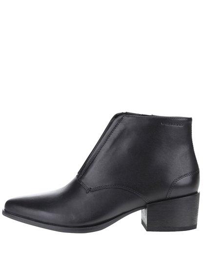Čierne dámske kožené členkové topánky s gumovou vložkou Vagabond Marja