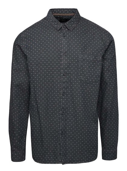 Modrá denimová košeľa so vzorom Burton Menswear London