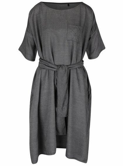 Tmavosivé voľnejšie šaty Skunkfunk Annua