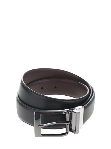 Hnedo-čierny opasok Burton Menswear London