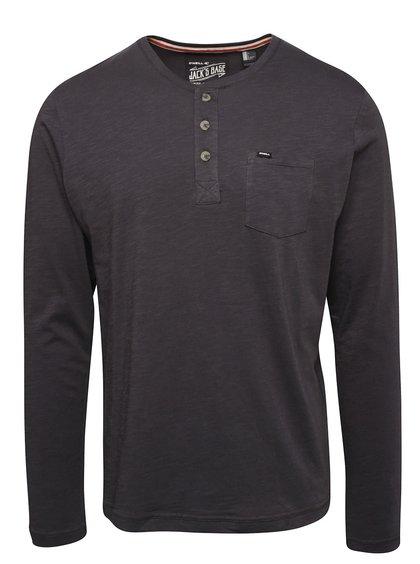 Tmavě šedé pánské triko s dlouhým rukávem O'Neill Henley