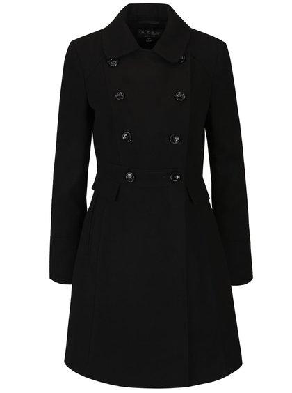 Černý kabát s kapsami Miss Selfridge
