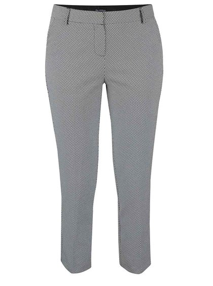 Pantaloni crem Miss Selfridge cu model