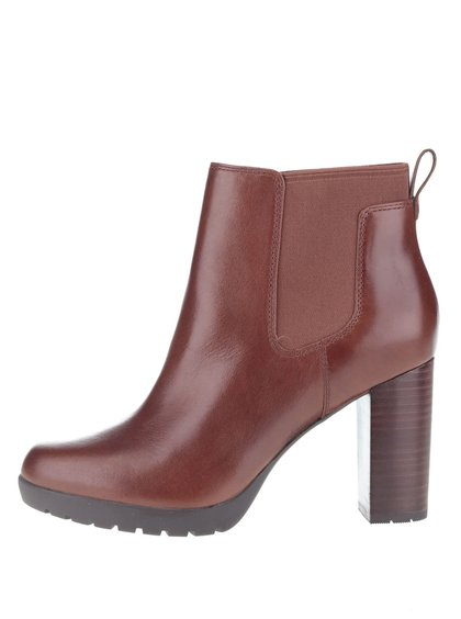 Tmavě hnědé dámské kožené boty Clarks Elipsa Dee