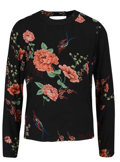 Bluză neagră Dorothy Perkins cu imprimeu floral