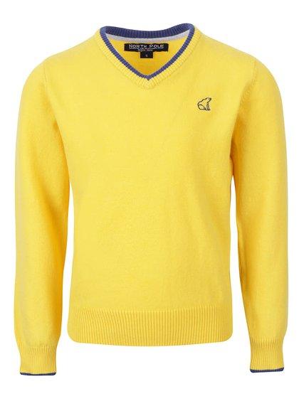 Žltý chlapčenský sveter s véčkovým výstrihom North Pole Kids