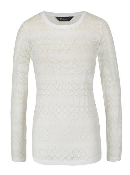 Krémové krajkované tričko Dorothy Perkins