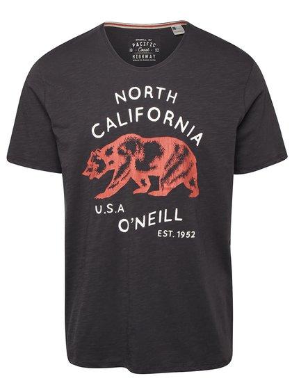 Tmavě šedé pánské triko s potiskem O'Neill Trip
