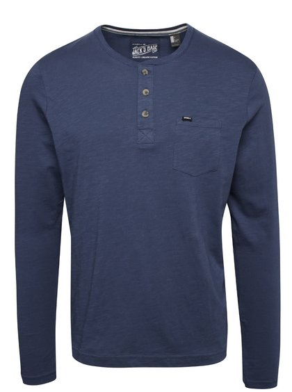 Modré pánské triko s dlouhým rukávem O'Neill Henley