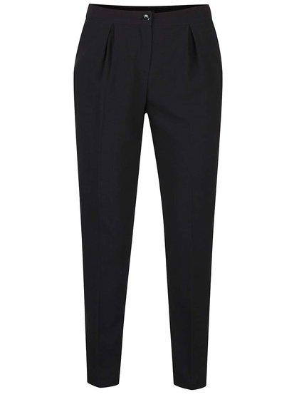 Pantaloni negri Alchymi cu croi conic și pense