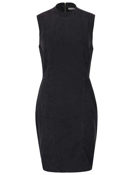 Tmavě šedé džínové šaty s rolákem Noisy May Maya