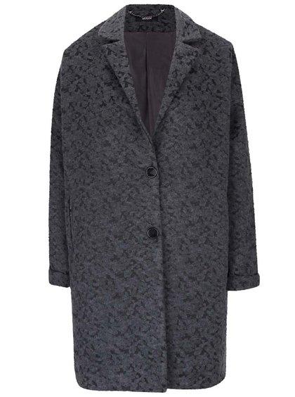 Šedý kabát s drobným vzorem Alchymi Demalia