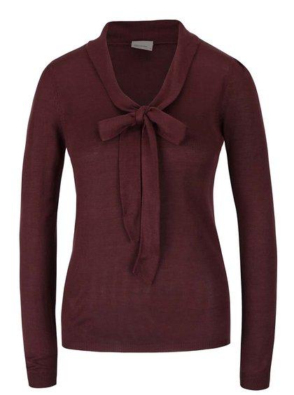 Hnědý svetr s mašlí Vero Moda Rubi