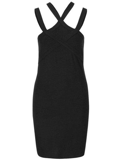 Černé šaty na ramínka Noisy May Laila