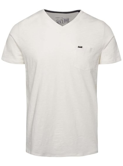 Krémové pánske tričko s vreckom O´Neill Jack´s base