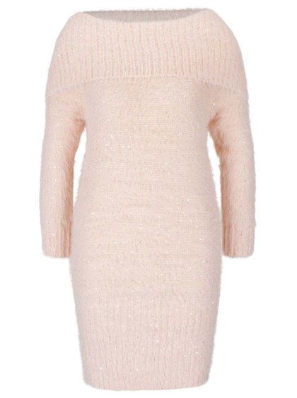 Marhuľové šaty s odhalenými ramenami Noisy May Fever