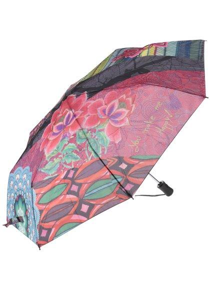 Umbrelă Desigual Seduccio cu model