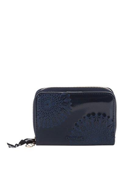 Tmavě modrá lesklá peněženka Desigual Magnetica Katia