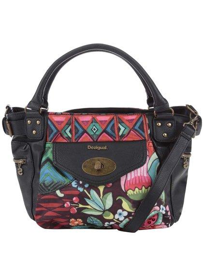 Čierna kabelka s farebnými vzormi Desigual McBee Ikara