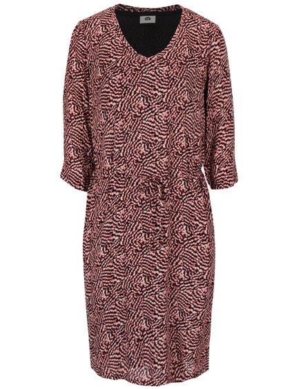 Červeno-černé vzorované šaty  s 3/4 rukávem PEP Fifi