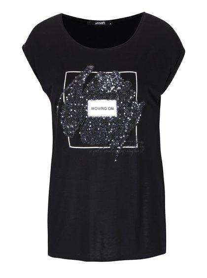 Černé dámské tričko s flitry Haily´s Grace