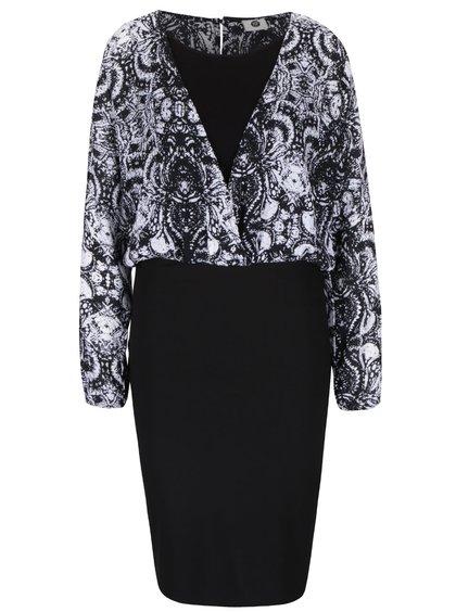 Čierno-biele vzorované šaty PEP Freja