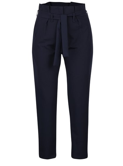 Tmavě modré kalhoty s vysokým pasem Haily´s Vanny