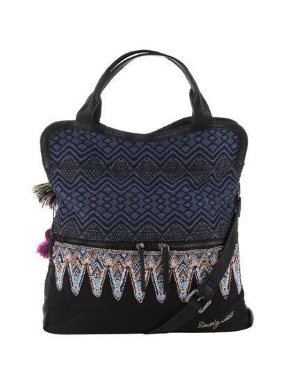 Čierno-modrá kabelka s farebnými korálkami Desigual Cordoba Uma