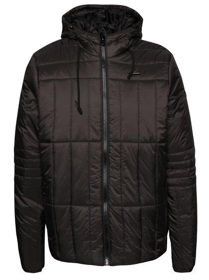 Tmavě šedá prošívaná bunda s kapucí Blend