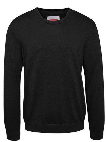 Čierny pánsky sveter s logom s.Oliver