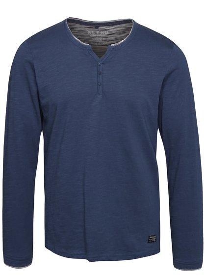 Bluză albastră Blend cu nasturi