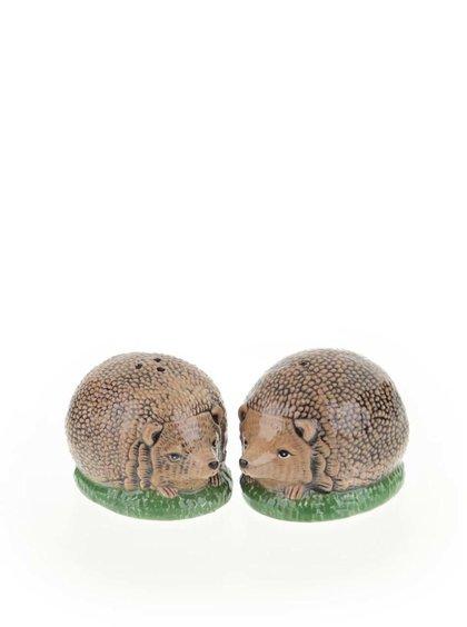 Hnědý keramický set pepřenky a solničky ve tvaru ježků Cath Kidston