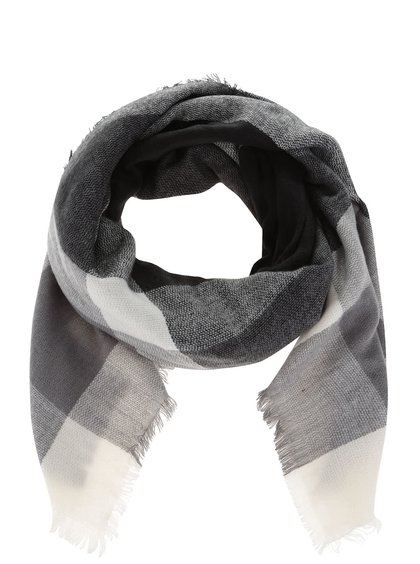 Sivo-čierna károvaná šatka Haily´s Lilly