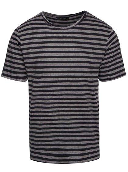 Krémovo-modré pruhované triko ONLY & SONS Allan