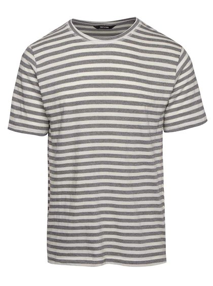 Modro-krémové pruhované triko ONLY & SONS Allan
