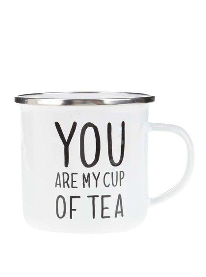 Biely plechový hrnček Sass & Belle You are My Cup of Tea