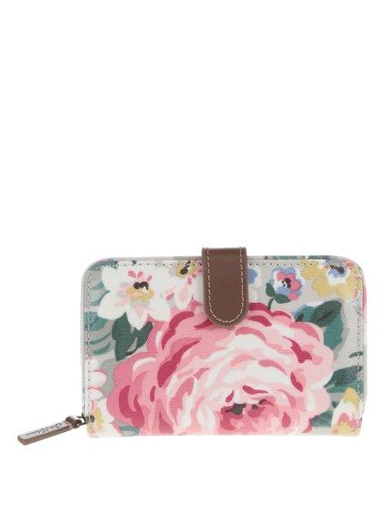 Šedá květovaná peněženka Cath Kidston