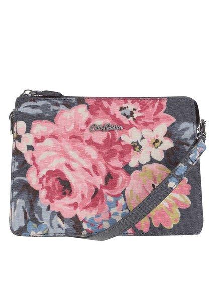 Tmavě šedá crossbody kabelka s květy Cath Kidston