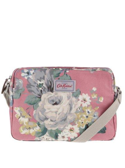 Růžová květovaná crossbody kabelka Cath Kidston