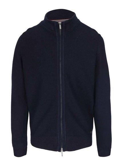 Modrý pánský svetr na zip bugatti