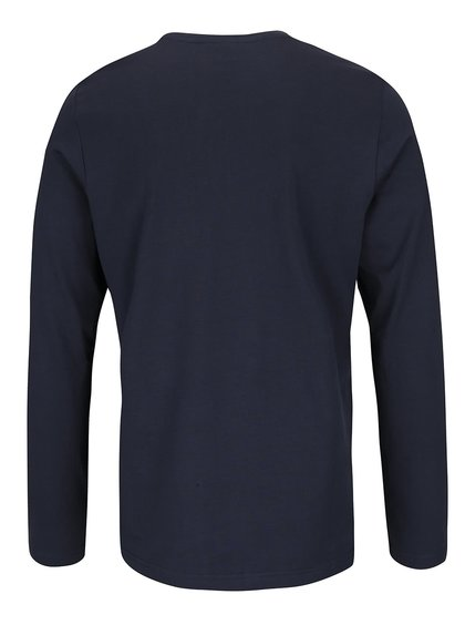 Modré pánské triko s dlouhými rukávy s.Oliver