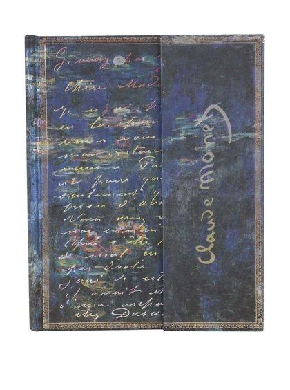 Modrý zápisník bez linek Paperblanks LettertoMorisot Ultra