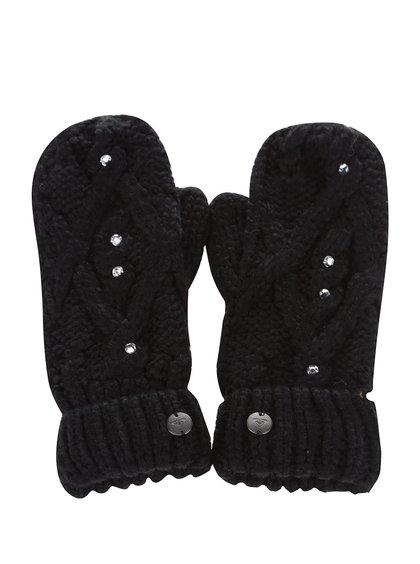 Mănuși negre Roxy Shootstarscarf cu aplicații