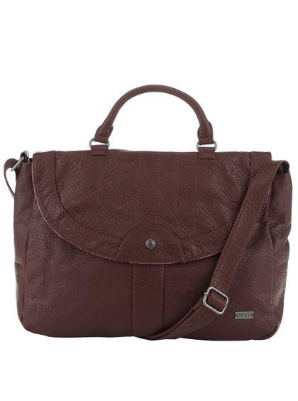 Hnedá koženková kabelka Roxy Sun