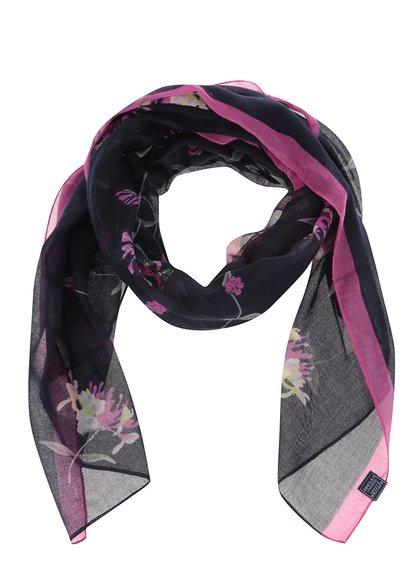 Tmavě modrý šátek s květinovým vzorem Tom Joule Wensley