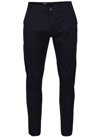 Modré slim-fit chino nohavice Casual Friday