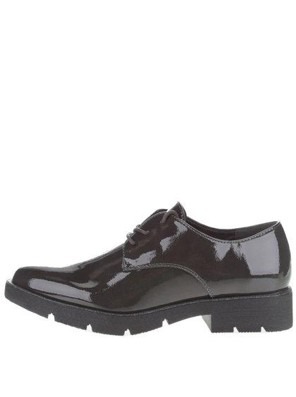 Pantofi lăcuiți Tamaris gri închis