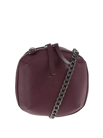 Geantă mică crossbody vișinie Pieces Barbara