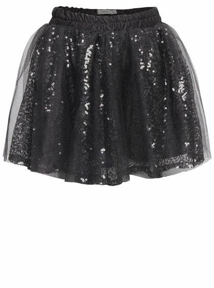 Sivá dievčenská trblietavá sukňa name it Wilfe